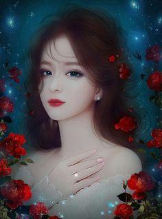 Beautiful women images in art Art Manga, Art Anime, Anime Art Girl, Anime Girls, Beautiful Fantasy Art, Beautiful Anime Girl, Beautiful Women, 3d Fantasy, Fantasy Girl