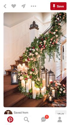 25 Breathtaking Christmas Wedding Ideas – Christmas Celebration – All about Christmas A Christmas wedding can be a magical affair. There are so many unique and creative things you can do for a Christmas wedding. Christmas Wedding Decorations, Wedding Staircase Decoration, Christmas Wedding Flowers, Holiday Decor, Church Decorations, Ceremony Decorations, Dream Wedding, Wedding Day, Wedding Ceremony