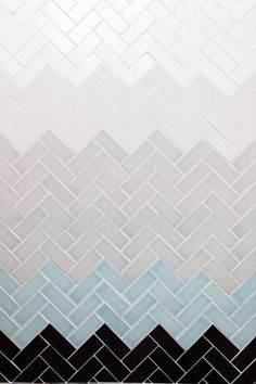Subway tile from Mission Stone & Tile that uses texture, pattern and color to create a modern take on a classic design. Floor Patterns, Tile Patterns, Textures Patterns, Subway Tiles, Wall Tiles, U Bahn Station, Herringbone Tile, Tiles Texture, Stone Tile Texture