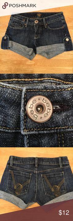 Bebe Jean Shorts Cute BeBe jean shorts, size 24, excellent condition bebe Shorts Jean Shorts
