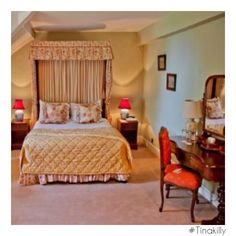 Tinakilly country house hotel #Tinakilly Country House Hotels, Guest Rooms, Bed, Travel, Furniture, Home Decor, Guest Bedrooms, Viajes, Decoration Home