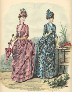 Victorian Fashion Plate  c.1880's
