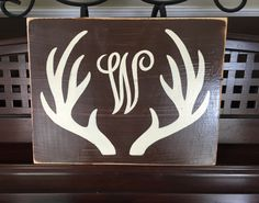 Custom Monogram Initial Sign ANTLER Deer Season Sign Boys Room Camo Hunting Theme Nursery Home Wall Art Plaque Wooden HP You Pick Color by shabbysignshoppe on Etsy https://www.etsy.com/listing/241509865/custom-monogram-initial-sign-antler-deer