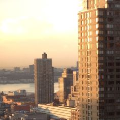 A view from our hotel room in Times Square of the Hudson at sunset...
