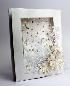 Happy Friday, well this is the second to last christmas friday for a while and I still have loads of cards to share. Christmas Card Crafts, Last Christmas, Christmas Snowflakes, Xmas Cards, White Christmas, Card Making Tutorials, Winter Cards, Greeting Cards Handmade, Cardmaking