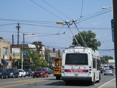 SEPTA New Flyer E40LF trackless trolley at Castor&Bleigh (Rt.59)