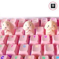 Handmade Novelty R4/ESC Keycap Multiple Expression Artisan Key | Etsy Big Lava Lamp, Kawaii Diy, Key Caps, Miffy, Pvc Material, Pink Patterns, Keyboard, Artisan, Cartoon