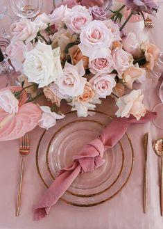 Pink Wedding Theme, Rose Wedding, Wedding Themes, Floral Wedding, Rustic Wedding, Dream Wedding, Wedding Decorations, Table Decorations, Wedding Ideas