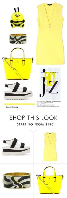 """""""Bumble Bee"""" by youaresofashion ❤ liked on Polyvore featuring Chanel, STELLA McCARTNEY, Versus, Asch Grossbardt and Kate Spade"""