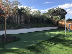 Project: Huge Turf Backyard with Putting Green Backyard Putting Green, Drought Tolerant Landscape, Bay Area, Outdoor Decor