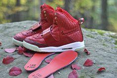 Genuine Python Red October Nike Air Yeezy 1 by JBF Customs
