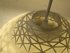Stellate Pendant Light Dome shaped filled with a triangular wire structure