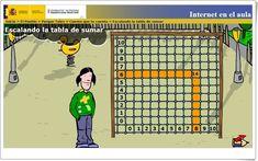 """""""Escalando la tabla de sumar"""" (Actividad interactiva de Matemáticas de Primaria) Sumo, Internet, Math, Games, Ideas, Maths Area, Interactive Activities, Teaching Resources, Bouldering"""