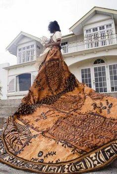 This is Adi Vuya Ratabua Fiji's premier wedding gown designer on her wedding day…