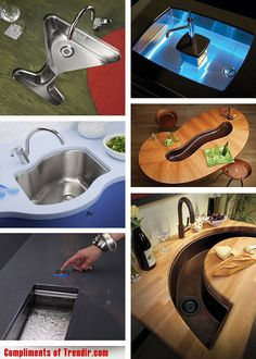 Bar sinks.