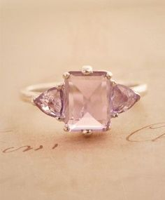 http://rubies.work/0859-ruby-pendant/ This pink amethyst and sterling silver engagement ring is a lovely, unique alternative to a traditional diamond ring