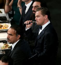 After Leonardo DiCaprio was seen vaping at the SAG Awards, we're now confronted with a new etiquette question: Is it ever socially acceptable to vape indoors? Leonardo Dicaprio, Vaping, Sag Awards, Goodie Bags, Attends, Cigars, Smoking, Fibromyalgia, Cannabis