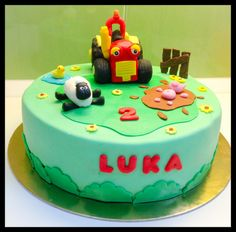 Tractor+Tom+fondant+cake