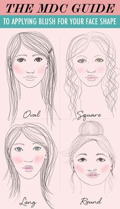 The MDC Guide to Applying Blush for Your Face Shape Blush can be a tricky makeup tool. It definitely be over-done accidentally, and no one wants that! Here's a guide to applying blush based on your face shape. All Things Beauty, Beauty Make Up, My Beauty, Beauty Nails, Beauty Secrets, Hair Beauty, Love Makeup, Makeup Tips, How To Apply Blush