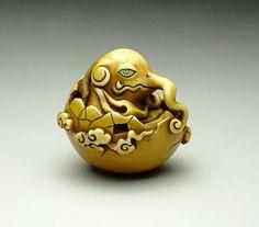 34 Rakuchu Netsuke, Genru! - Desde la primera exposición individual en la Galería ~ Hanakage Extracto