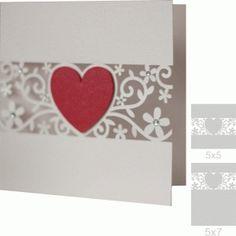 Silhouette Design Store - View Design #74662: 5x5 and 5x7 heart flourish card