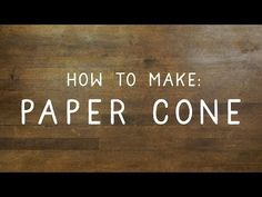 How to make a cone out of paper - DIY & Crafts Essentials by Handimania, My Crafts and DIY Projects