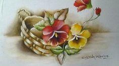 Como pintar cesto de amor perfeito com folhas envelhecidas. Primeira parte: pintando o cesto.YouTube
