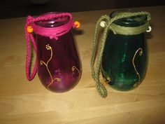 Lanterns, upcycled jars, glass paint - diy