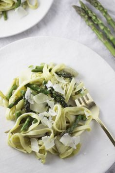 Fettuccine With Asparagus, Peas, Artichoke and Lemon | A Cup of Jo