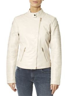 This is the 'Hestia' Snow White Leather Jacket by our friends at Rino & Pelle! Everybody needs a trusty leather jacket. It's always one of the most well-worn pieces in a wardrobe - trust us. SHOP NOW! Tan Leather Jackets, Black Biker Jacket, Spring Jackets, White Leather, Shop Now, Snow White, London, Clothing, Shopping