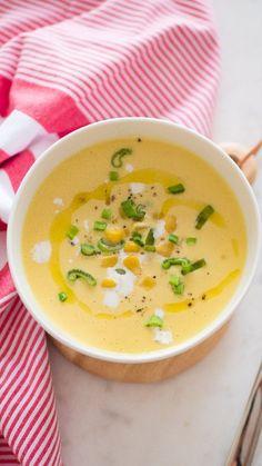 cuisinonsencouleurs on Instagram: Vous en avez marre de manger du maïs en boite à la cuillère ? ☀️Pour ce premier jour de l'été, je vous propose une recette de fond de… Asian Cooking, Cheeseburger Chowder, Ethnic Recipes, Food, Instagram, First Day, Gazpacho, Cooking, Cooking Recipes