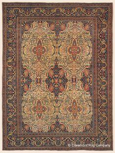 "FERAHAN SAROUK, 8' 6"" x 11' 6"" — 3rd Quarter, 19th Century, West Central Persian Antique Rug - Claremont Rug Company"