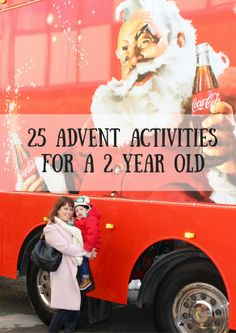 25 advent activities for a 2 year old. Ideal for advent calendars, preschooler, toddlers