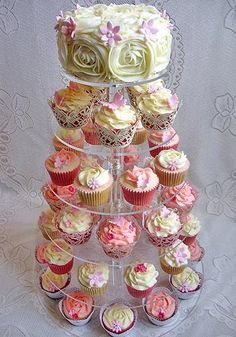 Cupcakes  Cake Decorating Flowers Wedding Cupcake Tree