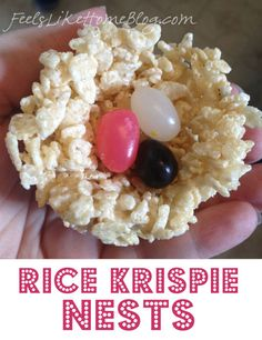 Nothing says Easter food like rice krispie nests!  This recipe from Feels Like Home is simple enough for little hands to do most of the work - and sticky enough for that work to be fun!  This recipe calls for jelly beans, but why not use mini eggs for a chocolatey version?