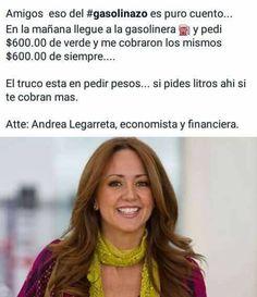 el gasolinazo no nos afecta  -Andrea Legarreta