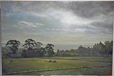 A pasture in Oamaru – Vin Jung New Zealand Landscape, Oil Paintings, Portrait, Canvas, Art, Tela, Art Background, Headshot Photography, Kunst