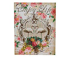 PLACA STEM ENJOY LIFE - 22X28CM