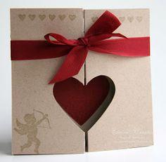 Elaine's Creations: Heart Fold Card