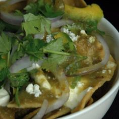 Chilaquiles - The Mexican Nachos  This recipe is great for a dinner party when you really want to show off your true Mexican cooking skills. You'll need to convince your friends that nachos is not the authentic way to go.