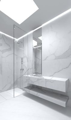 100 Marble Bathroom Designs Ideas is a part of our design inspiration series.Design inspirational series is a weekly showcase of incredible designs from all around the world. Minimal Bathroom, Modern Bathroom Design, Contemporary Bathrooms, Bathroom Interior Design, Bathroom Designs, Bathroom Ideas, Modern Design, Bad Inspiration, Bathroom Inspiration