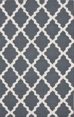 Rugs USA Homespun Moroccan Trellis Blue Grey Rug