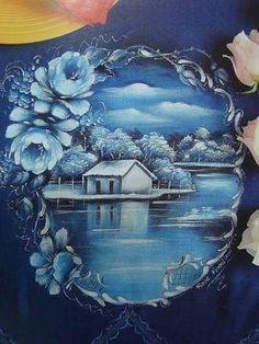 Resultado de imagem para pintura em tecido artista evanir bertolino aguado