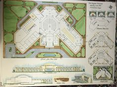 Egyptian Parliament Building In The new administrative capital Architecture Concept Drawings, Paper Architecture, Education Architecture, Futuristic Architecture, Architecture Plan, Landscape Architecture, Architect Sketchbook, Masterplan Architecture, Architecture Presentation Board