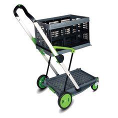 CARRITO PLEGABLE - REF: FLEX: Práctico para el transporte de carpetas, pequeños paquetes, medicamentos, materiales, etc. Montantes de aluminio y plataformas de plástico de alta calidad.