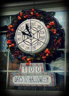 Nightmare Before Christmas countdown wreath!