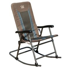 Timber Ridge Smooth Glide Lightweight Padded Folding Rocking Chair for Outdoor and Support up to Beige