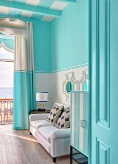 Tiffany room (I'd go with a white ceiling)