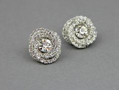 Bridal crystal stud earrings Wedding crystal by LavenderByJurgita