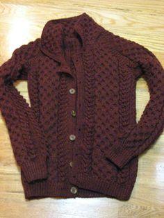 Vintage aran sweater pattern on Ravlery